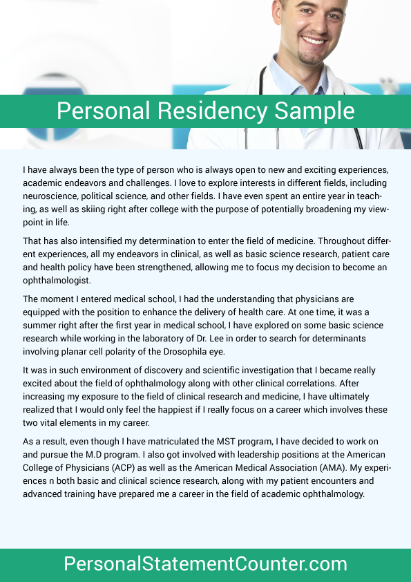 Residency Personal Statement Length | Personal Statement Counter