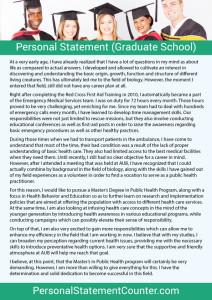 Personal Statement (Graduate-School)
