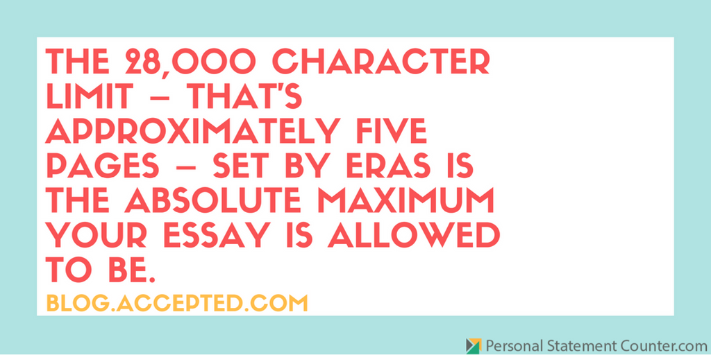 eras personal statement length personal statement eras characters counter