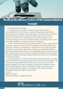 medical letter of recommendation sample